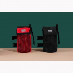 Dovewill Tas Botol Minum Stang Sepeda Cycling Rear Pouch Bag - B081 - Black - 4