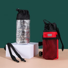 Dovewill Tas Botol Minum Stang Sepeda Cycling Rear Pouch Bag - B081 - Black - 5