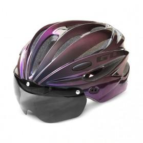 GUB Helm Sepeda Cycling Visor Aero EPS Magnetic Removable Lens - K80 Plus - Black/Purple - 1