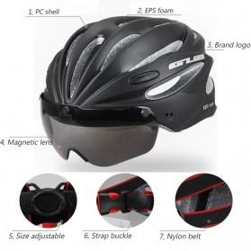 GUB Helm Sepeda Cycling Visor Aero EPS Magnetic Removable Lens - K80 Plus - Black/Purple - 3