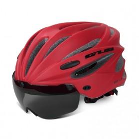 GUB Helm Sepeda Cycling Visor Aero EPS Magnetic Removable Lens - K80 Plus - Red