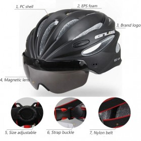 GUB Helm Sepeda Cycling Visor Aero EPS Magnetic Removable Lens - K80 Plus - Red - 3