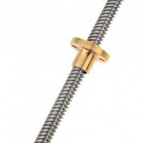 VENSTPOW 3D Printer CNC Trapezoidal Rod Screw Thread 2mm 400mm - T8 - Silver - 3