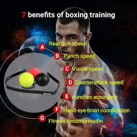 Jusenda Punching Reflex Ball Samsak Tinju Boxing Speed Punching Reaction Agility Training 20g - DS212 - Black - 3