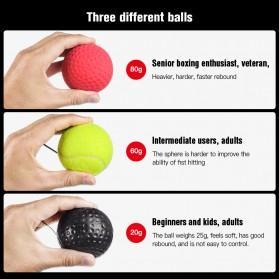 Jusenda Punching Reflex Ball Samsak Tinju Boxing Speed Punching Reaction Agility Training 20g - DS212 - Black - 4