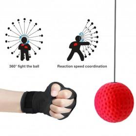 Jusenda Punching Reflex Ball Samsak Tinju Boxing Speed Punching Reaction Agility Training 20g - DS212 - Black - 5