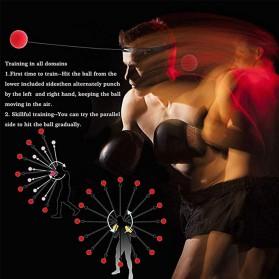 Jusenda Punching Reflex Ball Samsak Tinju Boxing Speed Punching Reaction Agility Training 20g - DS212 - Black - 9