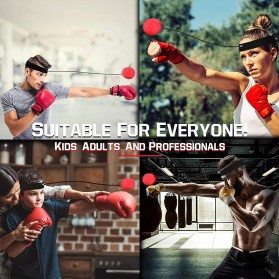 Jusenda Punching Reflex Ball Samsak Tinju Boxing Speed Punching Reaction Agility Training 20g - DS212 - Black - 10