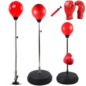 HONGWU Punching Ball Tiang Samsak Tinju Boxing Punch Target - 8312 - Black/Red - 2