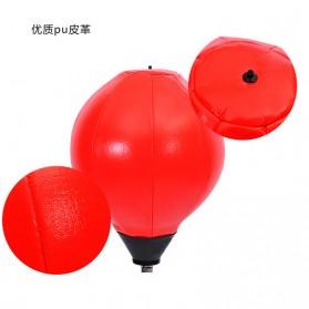 HONGWU Punching Ball Tiang Samsak Tinju Boxing Punch Target - 8312 - Black/Red - 4