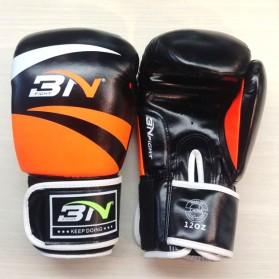 BNPRO Sarung Tangan Tinju MMA UFC Boxing Muay Thai Leather Glove 12 OZ - PRO-BG-BN02 - Orange