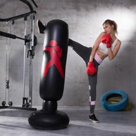 Jusenda Vertical Punching Bag Tiang Samsak Tinju Boxing Punch Target Inflatable 1.6 Meter - DS0096 - Black - 1