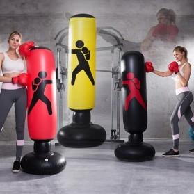 Jusenda Vertical Punching Bag Tiang Samsak Tinju Boxing Punch Target Inflatable 1.6 Meter - DS0096 - Black - 2