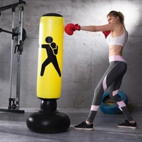 Jusenda Vertical Punching Bag Tiang Samsak Tinju Boxing Punch Target Inflatable 1.6 Meter - DS0096 - Black - 3
