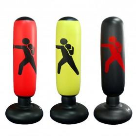 Jusenda Vertical Punching Bag Tiang Samsak Tinju Boxing Punch Target Inflatable 1.6 Meter - DS0096 - Black - 4