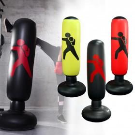 Jusenda Vertical Punching Bag Tiang Samsak Tinju Boxing Punch Target Inflatable 1.6 Meter - DS0096 - Black - 5