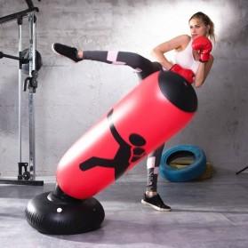 Jusenda Vertical Punching Bag Tiang Samsak Tinju Boxing Punch Target Inflatable 1.6 Meter - DS0096 - Black - 6