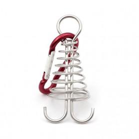 S-Biner Carabiner Spiral Shapped Spring Octopus Deck Peg Hook - S1218 - Silver