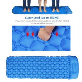 NatureBell Kasur Matras Angin Inflatable Air Rhombus Design for Sleeping Bag - NH19 - Blue - 2