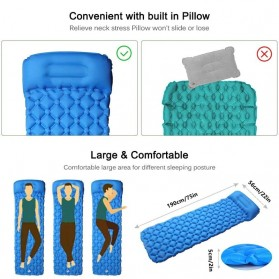 NatureBell Kasur Matras Angin Inflatable Air Rhombus Design for Sleeping Bag - NH19 - Blue - 7