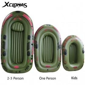 XC LOHAS Perahu Karet Inflatable Boat 1 Orang 150 x 80cm - XC230 - Green - 6
