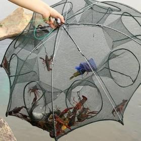 Jaring Pancing Ikan Hexagonal 8 Hole Fishing Net Trap Cage Version 02