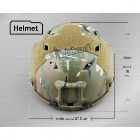 Demeysis Helm Tactical Airsoft Gun Paintball CS SWAT - DEM2001 - Army Gray - 10