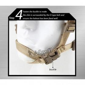 Demeysis Helm Tactical Airsoft Gun Paintball CS SWAT - DEM2001 - Army Gray - 7