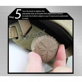 Demeysis Helm Tactical Airsoft Gun Paintball CS SWAT - DEM2001 - Army Green - 8