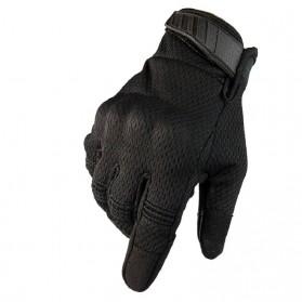 WALLY SKY Sarung Tangan Motor Full Finger Touchscreen Size L - HG012 - Black