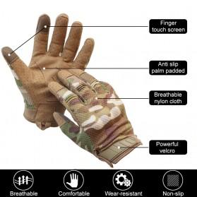 WALLY SKY Sarung Tangan Motor Full Finger Touchscreen Size L - HG012 - Black - 6
