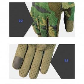 WALLY SKY Sarung Tangan Motor Full Finger Touchscreen Size L - HG012 - Black - 9