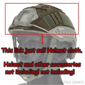 WST Cover Helm Tactical Airsoft Gun Paintball CS SWAT - A-TACS - Army Green - 4