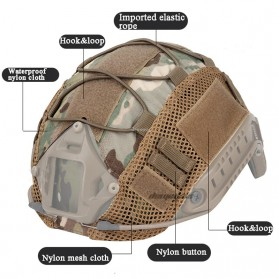 WST Cover Helm Tactical Airsoft Gun Paintball CS SWAT - A-TACS - Army Green - 6