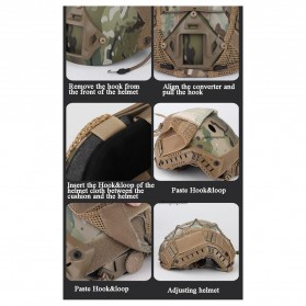 WST Cover Helm Tactical Airsoft Gun Paintball CS SWAT - A-TACS - Army Green - 10