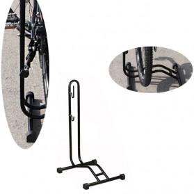 MIMRAPRO Stand Parkir Sepeda Bicycle Racks Floor Standing Bike Display - L150 - Black - 1