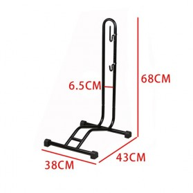 MIMRAPRO Stand Parkir Sepeda Bicycle Racks Floor Standing Bike Display - L150 - Black - 4