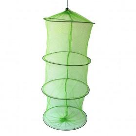 TONQUU Jaring Pancing Ikan Udang Shrimp Fishing Net Cage Foldable 3 Layers - SCZ620 - Green