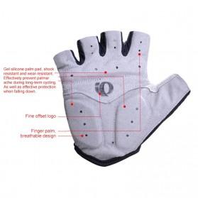 Vertvie Sarung Tangan Half Finger Anti-Slip Size M - S624 - Gray - 4
