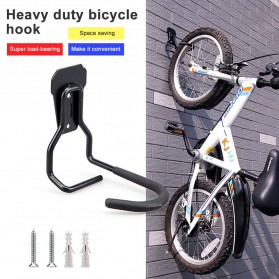 MUQZI Gantungan Dinding Sepeda Bike Wall Hook Hanger - MU570 - Black