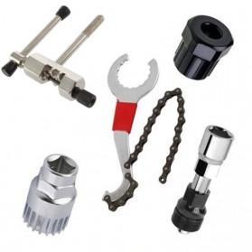 VXM 5 in 1 Perlengkapan Reparasi Rantai Sepeda Bicycle Chain Socket Tool Set - VX5 - Silver