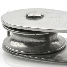 ASOL Katrol Kerekan Mini Serbaguna Swivel Pulley Stainless Steel Size M50 - Silver - 6
