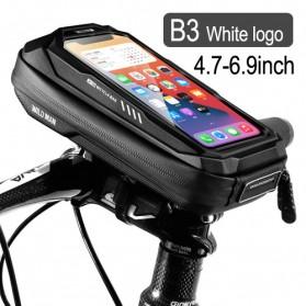 WILD MAN Tas Sepeda Smartphone Case Holder Handlebar Hard Shell Waterproof 0.5L - X-3 - Black - 1