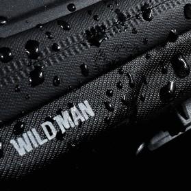WILD MAN Tas Sepeda Smartphone Case Holder Handlebar Hard Shell Waterproof 0.5L - X-3 - Black - 9