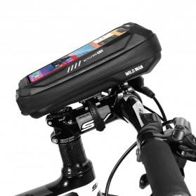 WILD MAN Tas Sepeda Smartphone Case Holder Handlebar Hard Shell Waterproof 0.5L - X-3 - Black - 10