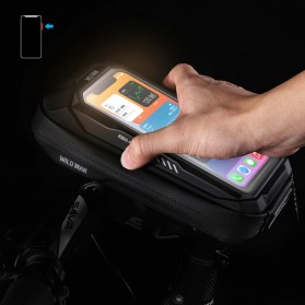 WILD MAN Tas Sepeda Smartphone Case Holder Handlebar Hard Shell Waterproof 0.5L - X-3 - Black - 11