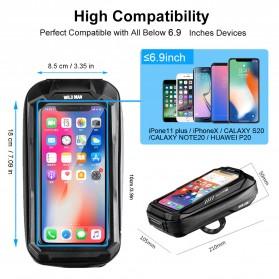 WILD MAN Tas Sepeda Smartphone Case Holder Handlebar Hard Shell Waterproof 0.5L - X-3 - Black - 12