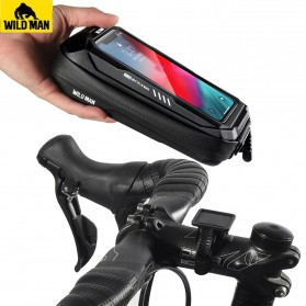 WILD MAN Tas Sepeda Smartphone Case Holder Handlebar Hard Shell Waterproof 0.5L - X-3 - Black - 2