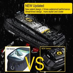 WILD MAN Tas Sepeda Smartphone Case Holder Handlebar Hard Shell Waterproof 0.5L - X-3 - Black - 3