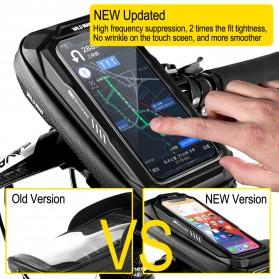 WILD MAN Tas Sepeda Smartphone Case Holder Handlebar Hard Shell Waterproof 0.5L - X-3 - Black - 4